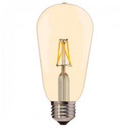 Optonica LED CANDLE ST64 6.5W E27 GOLDEN GLASS, SP1871