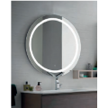 Mirror with direct and indirect light