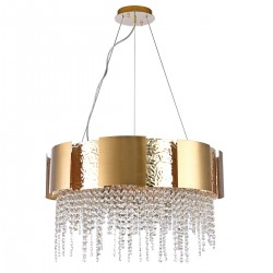 CHIARO chandelier with crystals Crystal Carmen 394012112