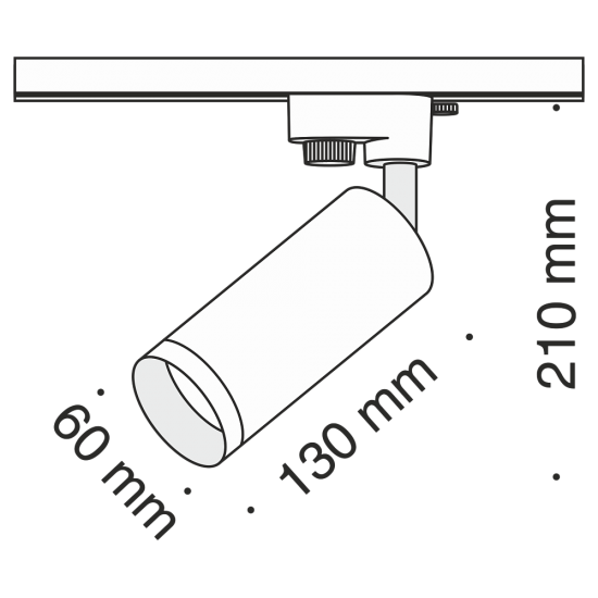 Maytoni light for 1-phase traks, TR004-1-GU10-B