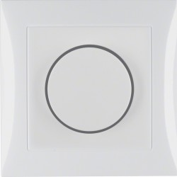 Berker S.1 rotary dimmer with cover plate setting knob, dimmer (set)