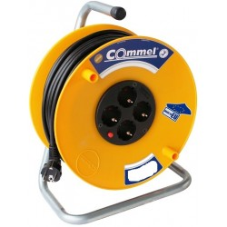 Commel extension cord on reel HO5VV-F 3G1,5, 15m, IP20, art.0953C