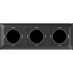Vilma 3-gang frame, R03an