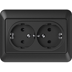 Vilma 2-way socket with earthing 16A/205V, RP16-021an