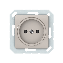 Vilma socket without earthing 16A/205V, RP16-001-02ch