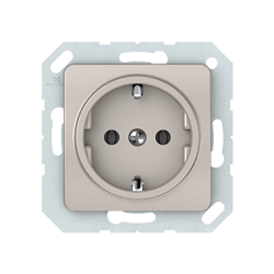 Vilma socket with earthing 16A/205V, RP16-002-02ch