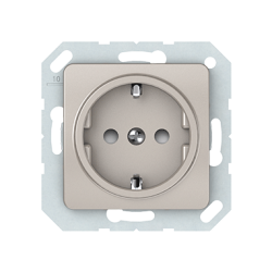 Vilma socket with earthing with child protection16A/205V, RP16-002-22ch