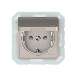 Vilma socket with earthing and cover 16A/205V, RP16-003-02ch