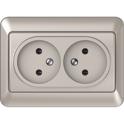 Vilma 2-way socket without earthing 16A/205V, RP16-020ch