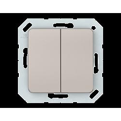 Vilma 2-gang switch insert, P510-020-02ch
