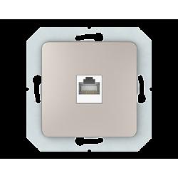 Vilma internet socket (1XRJ45 CAT5E UTP), KLRJ45-15e2-02ch