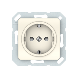 Vilma socket with earthing with child protection16A/205V, RP16-002-22iv