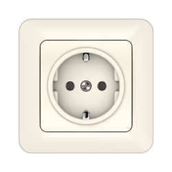 Vilma socket with earthing with frame 16A/205V, RP16-002iv