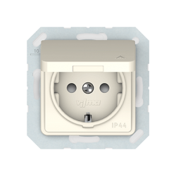 Vilma socket with earthing and cover 16A/205V, RP16-003-02iv