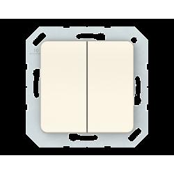 Vilma 2-gang switch insert, P510-020-02iv
