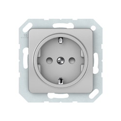 Vilma socket with earthing with child protection16A/205V, RP16-002-22mt
