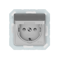 Vilma socket with earthing and cover 16A/205V, RP16-003-02mt
