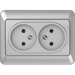 Vilma 2-way socket without earthing 16A/205V, RP16-020mt