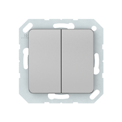 Vilma 2-gang switch insert, P510-020-02mt