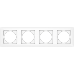 Vilma 4-gang frame, R04ww