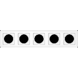 Vilma 5-gang frame, R05ww