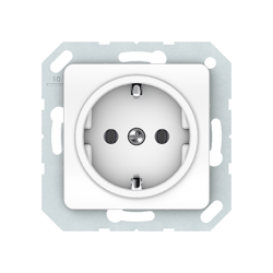 Vilma socket with earthing 16A/205V, RP16-002-02ww