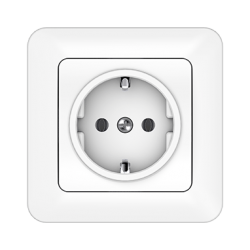 Vilma socket with earthing with frame 16A/205V, RP16-002ww