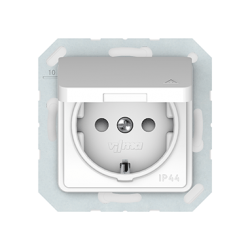 Vilma socket with earthing and cover 16A/205V, RP16-003-02ww