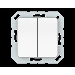Vilma 2-gang switch insert, P510-020-02ww