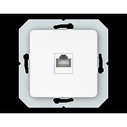 Vilma internet socket (1XRJ45 CAT5E UTP), KLRJ45-15e2-02ww