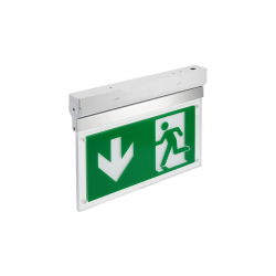 GTV Surface Emergency fixture LED, 3W, 6400K, 1h, IP20, LD-CORSO1-00, TEST button