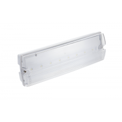 GTV Surface Emergency fixture LED, 3W, 6400K, 1h, IP65, LD-TERNO1-00, TEST button