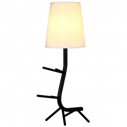 MANTRA table lamp 1xE27xmax20W, IP20, black, CENTIPEDE 7251