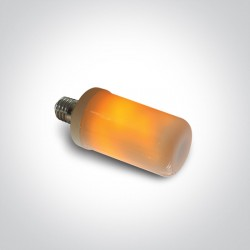 ONE LIGHT bulb LED, 6W, E27, 1600K,  Flickering Flame Effect lam, 9G06F/E