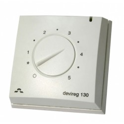 Thermostats for mounting on the wall with a floor sensor DEVIreg 130 5..45°C, 16A, 140F1010