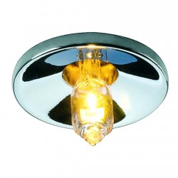 SLV LIGHTPOINT downlight round, chrome, G4,max. 10W