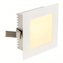 SLV FLAT FRAME BASIC recessed light square, G4, max 20W, white, 112731