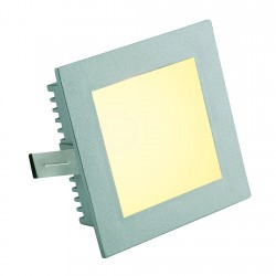 SLV FLAT FRAME BASIC recessed light square, G4, max 20W, silver-grey, 112732