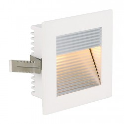 SLV FLAT FRAME CURVE recessed light square, G4, max 20W, white, 112771